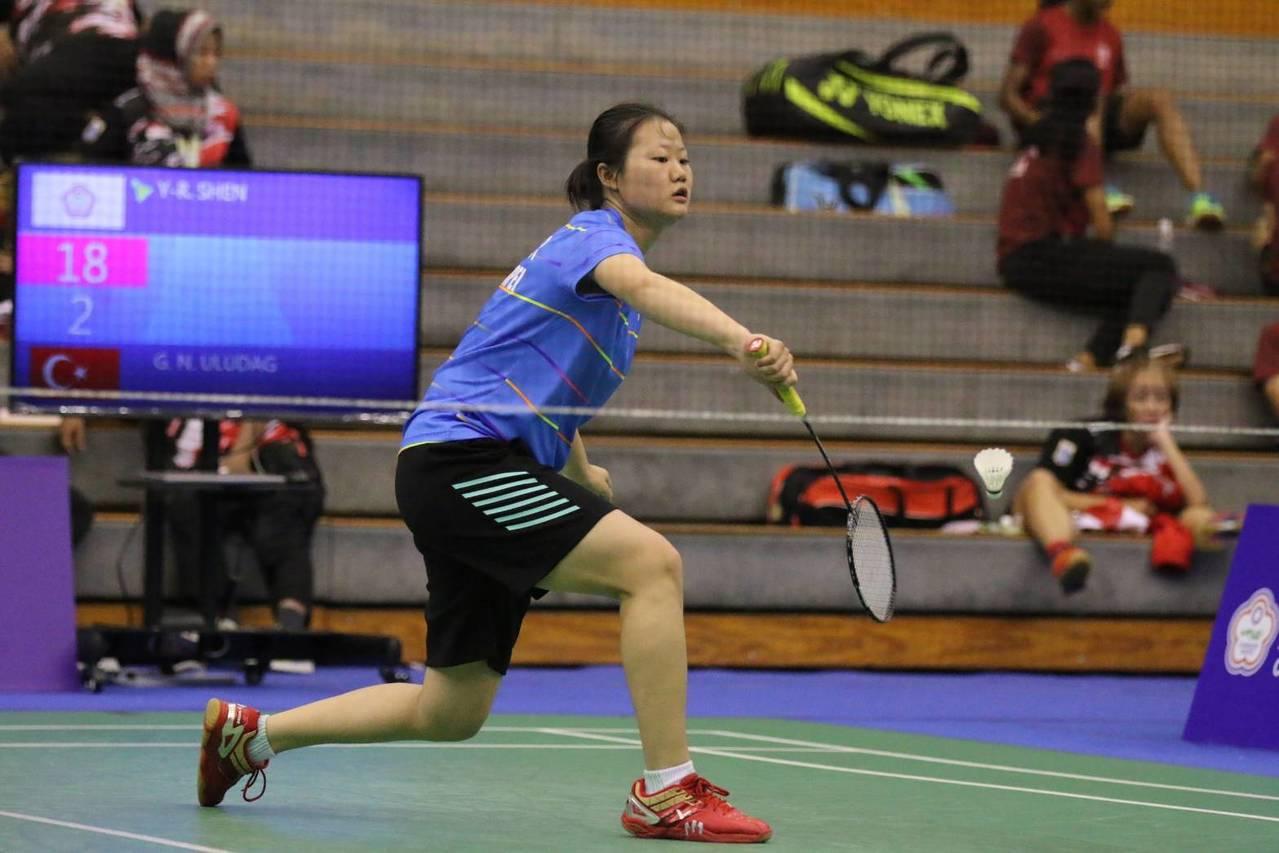 沈彥汝是地主重點。圖/中華民國聽障者體育運動協會提供