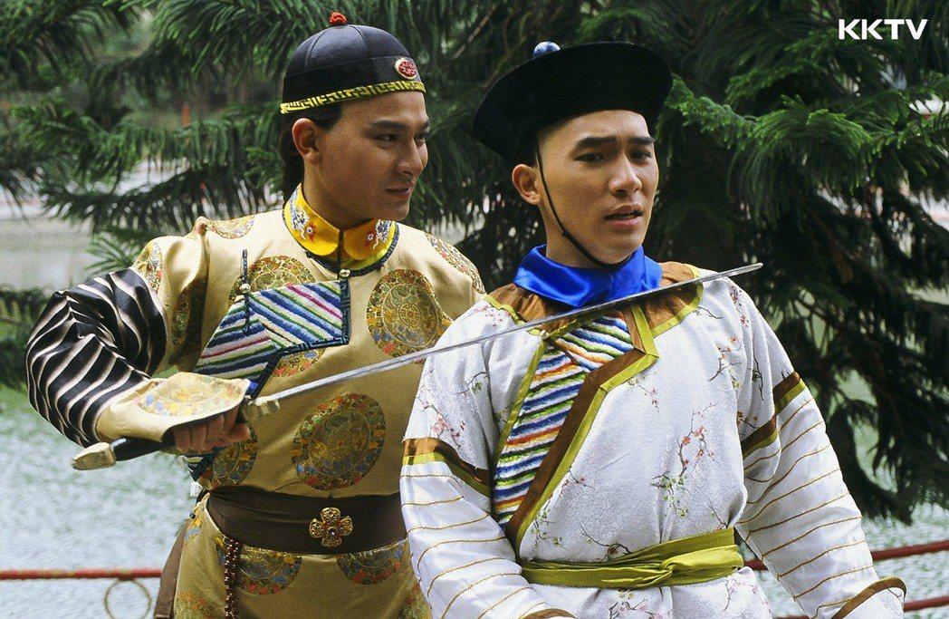 梁朝偉、劉德華兩大男神的「鹿鼎記」,重現兩人青澀模樣。圖/KKTV提供