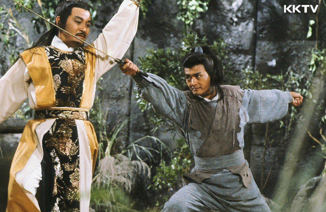 周潤發版本的「笑傲江湖」,是他的成名作之一。圖/KKTV提供