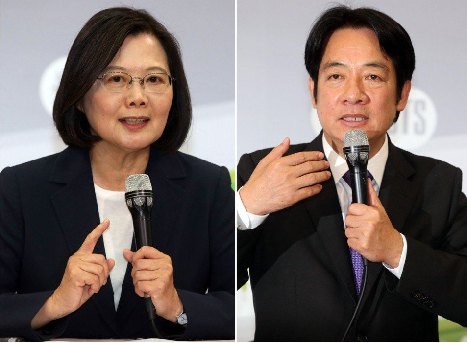 2020總統選舉民進黨可能「蔡賴配」?聯合報系資料照
