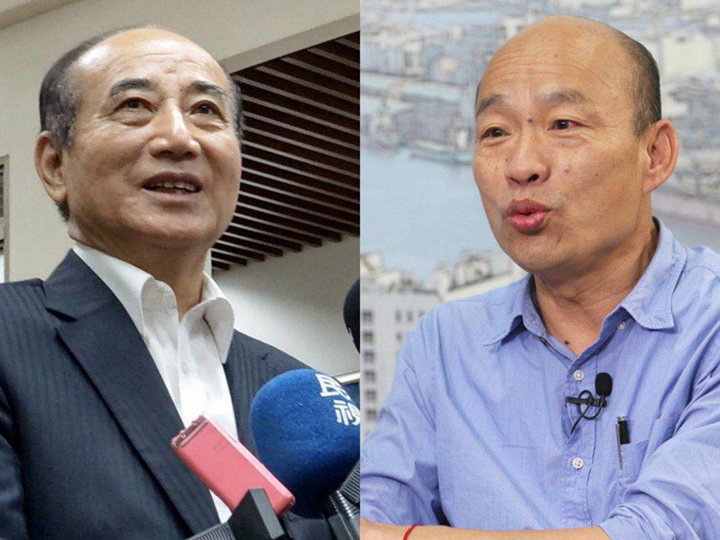 國民黨立委王金平與高雄市長韓國瑜。本報資料照合成