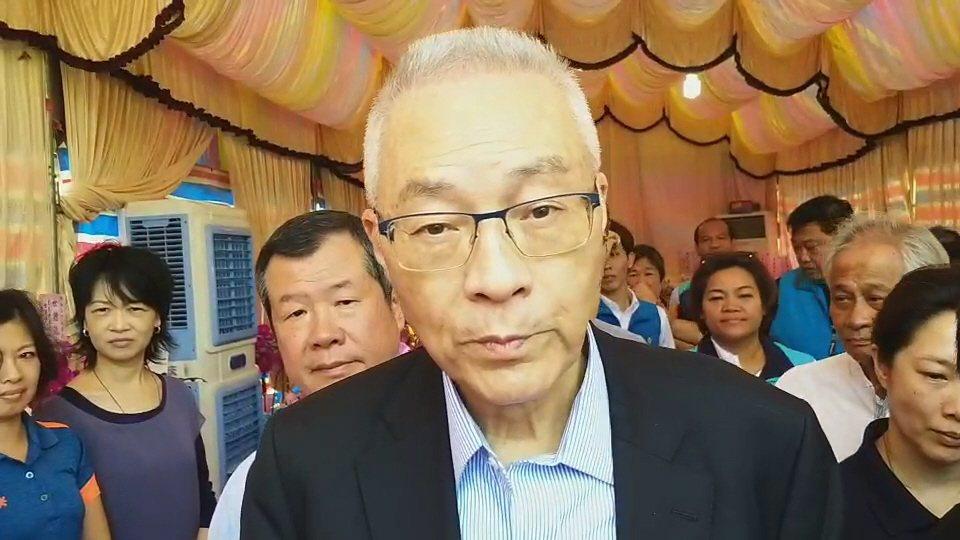 國民黨黨主席吳敦義。 聯合報系資料照片/記者羅紹平攝影