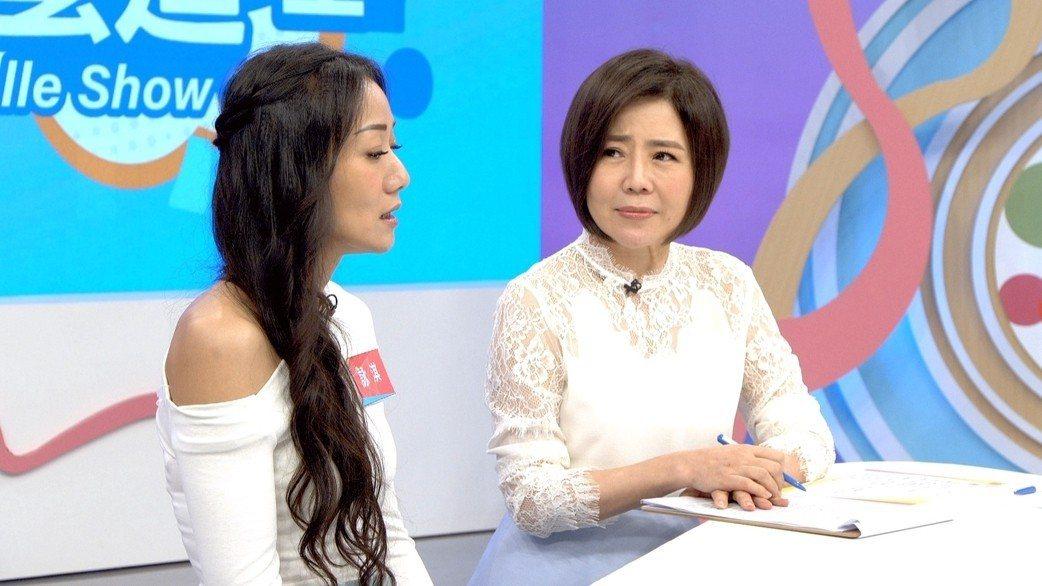 于美人(右)對馬如龍女兒的遭遇相當心疼。圖/東風衛視提供