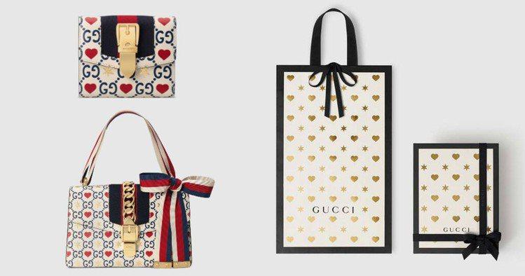 七夕情人節即將到來,Gucci推出愛心主題商品,搭配限定包裝。圖/Gucci提供