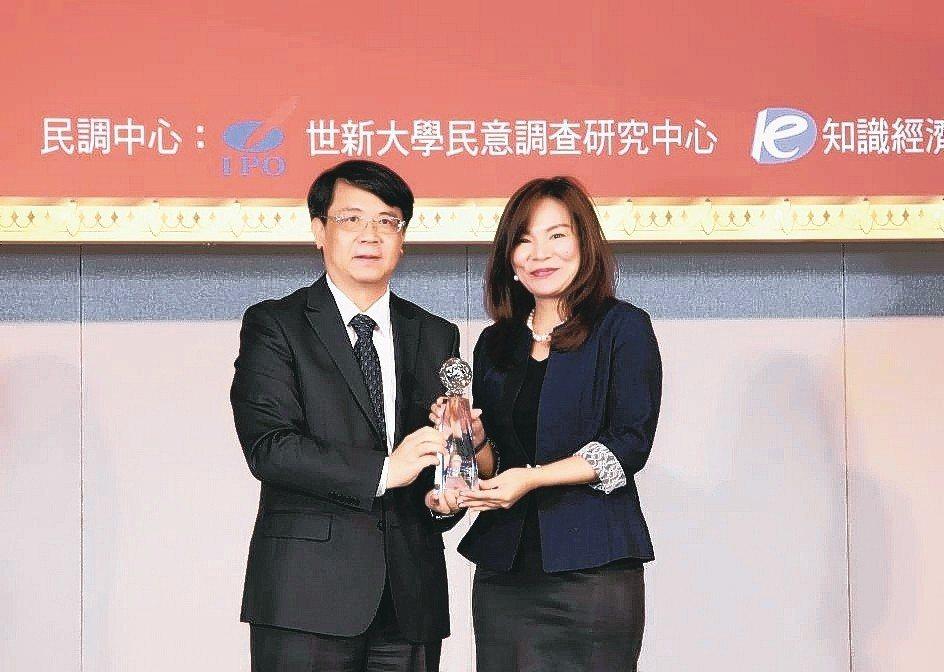 渣打銀行個人金融事業處負責人林素真(右)代表領獎。 渣打銀行/提供