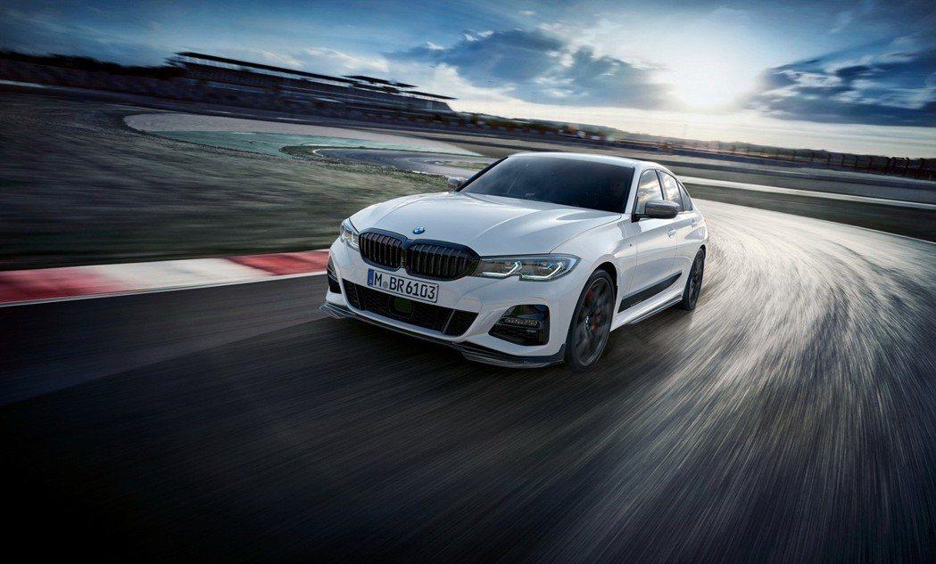 全新BMW 3系列M Performance套件勁裝上市。 圖/汎德提供