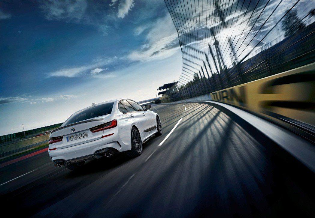 全新BMW 3系列M Performance加裝套件展現強烈運動化跑格。 圖/汎...