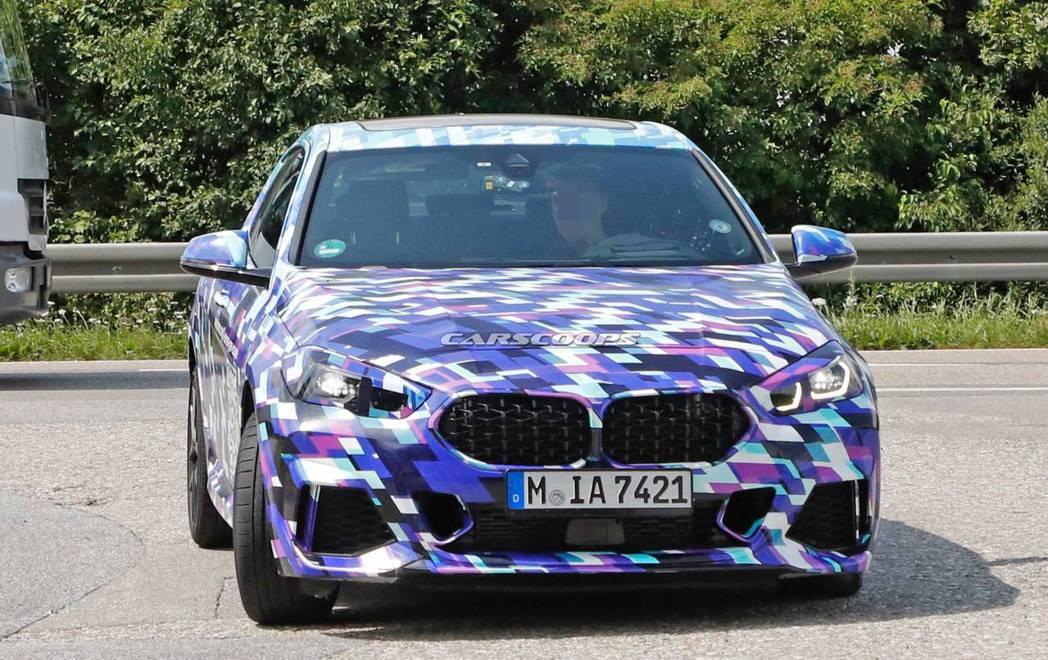 這台偽裝車應該是屆時全新BMW 2 Series Gran Coupe最高階的M...