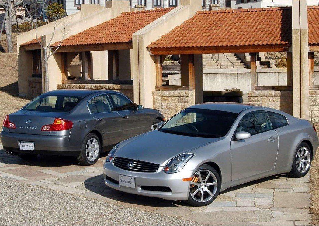 從V35世代Skyline就與GT-R分道揚鑣。 摘自Nissan