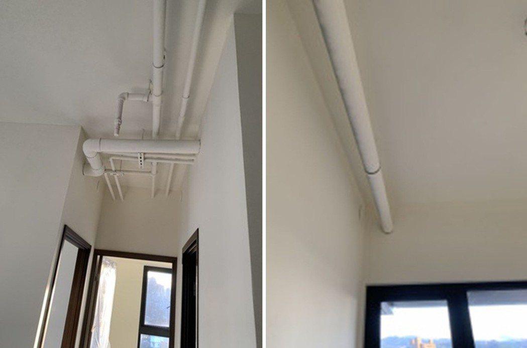 日前一名男子發現自己買的新屋,上面佈滿密集水管,讓他疑惑表示「這樣正常嗎?」圖擷...