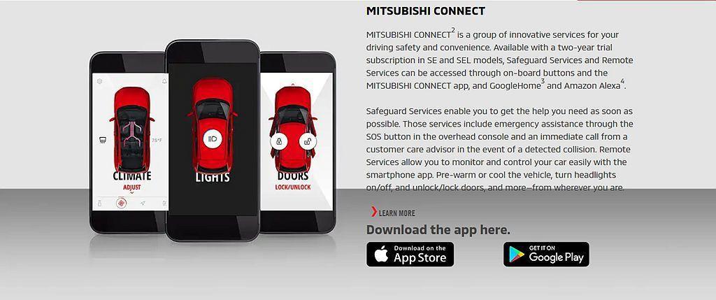 Mitsubishi Connect App應用系統升級後,可利用智慧型手機遠端...