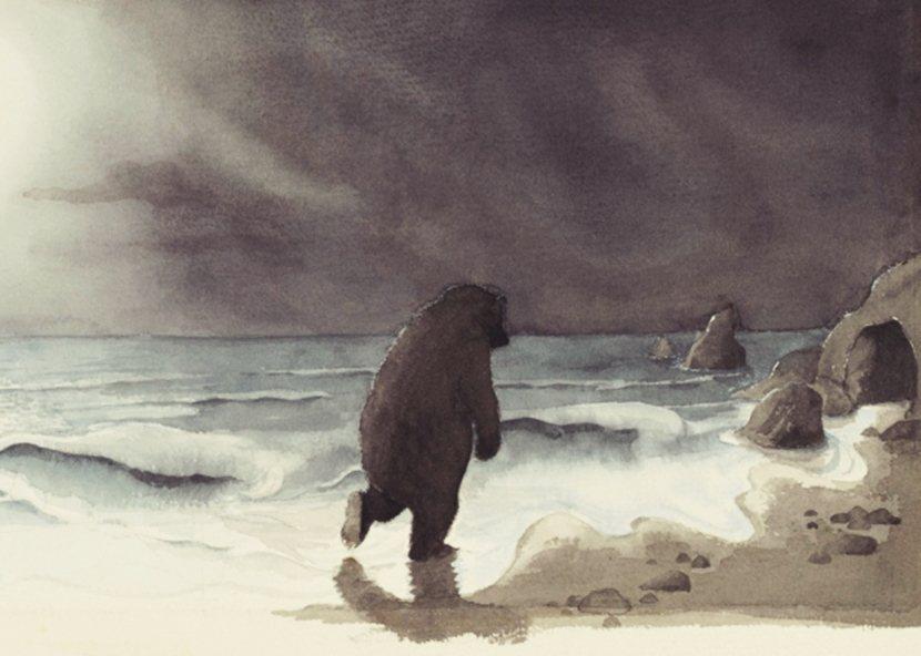 插畫家海倫.奧森柏莉(Helen Oxenbury)靈光一閃,他照著一位走路總是...
