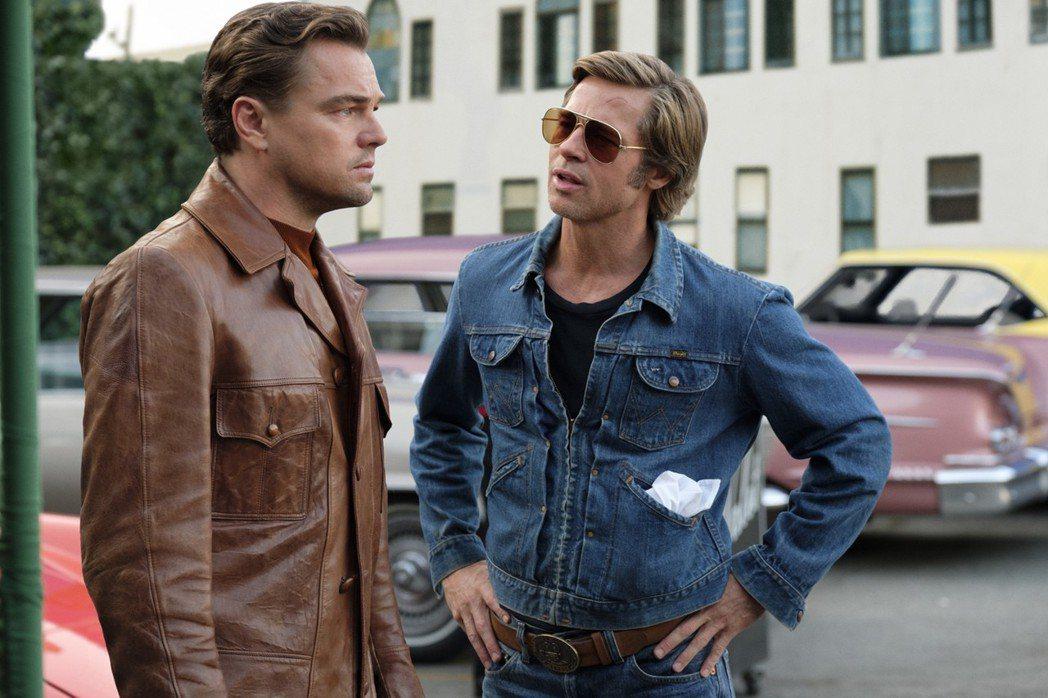 李奧納多狄卡皮歐與布萊德彼特首度在「從前,有個好萊塢」攜手合作。圖/摘自imdb