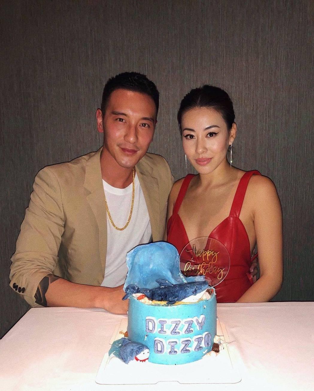王陽明(左)、蔡詩芸夫婦傳出做人成功。圖/摘自IG
