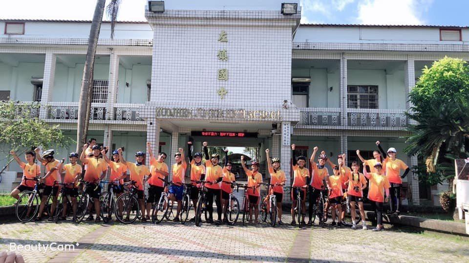 台南左鎮國中完成7天單車環島。圖/左鎮國中提供