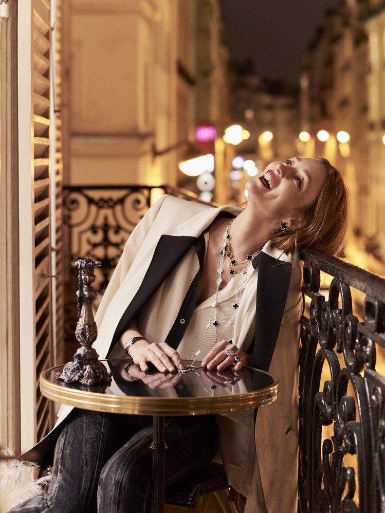 梵克雅寶Alhambra系列珠寶風靡全球逾50年。圖/梵克雅寶提供