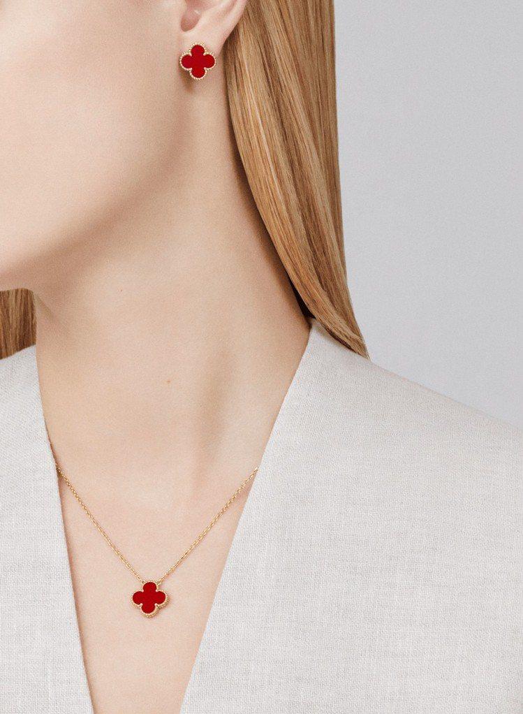 梵克雅寶經典的Alhambra 系列至今變化出各種不同材質與設計的珠寶。圖/梵克...