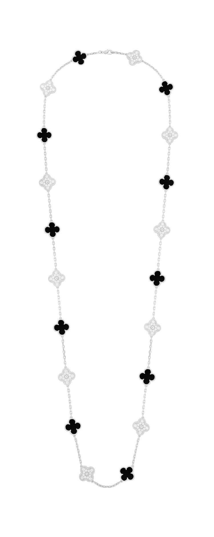梵克雅寶Vintage Alhambra長項鍊,價格店洽。圖/梵克雅寶提供