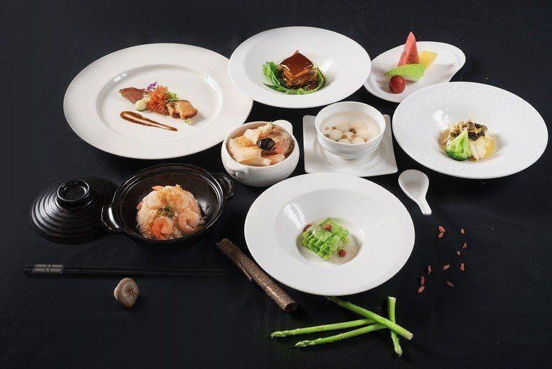 六福萬怡酒店獲最高三星溯源餐廳認證,粵亮廣式料理推出中式大地套餐。圖/六福提供