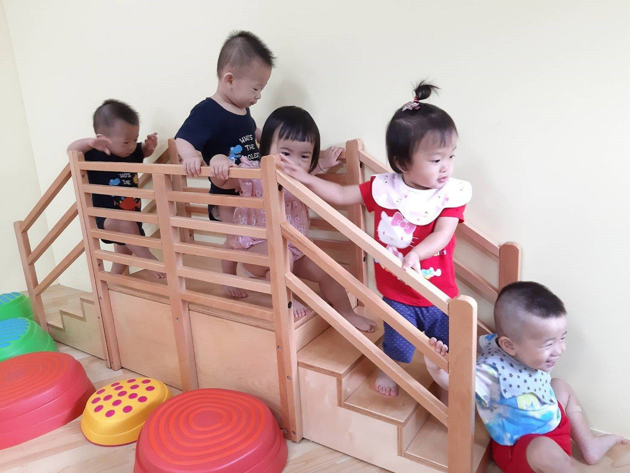 台南市公共托育家園到明年為止會陸續增加到23處。圖/台南市社會局提供