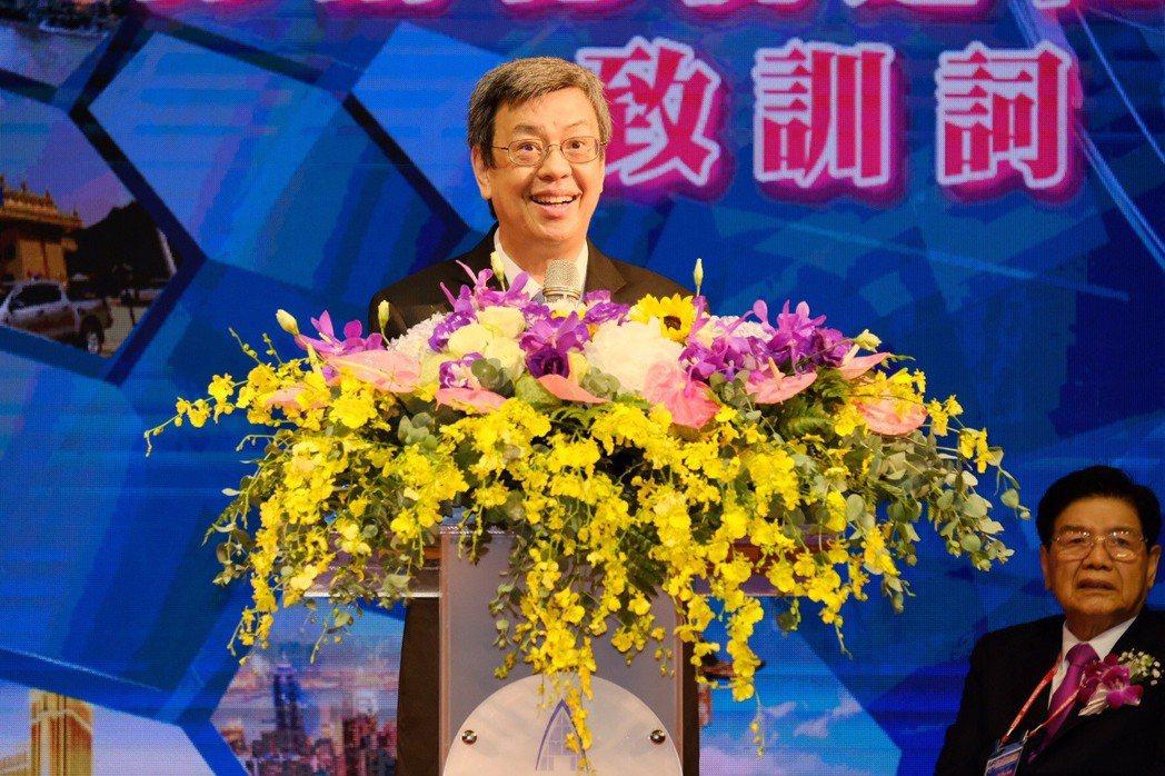 亞洲台灣商會聯合總會舉行辦年會,陳建仁副總統(見圖)肯定台商讓世界看見台灣。記者...