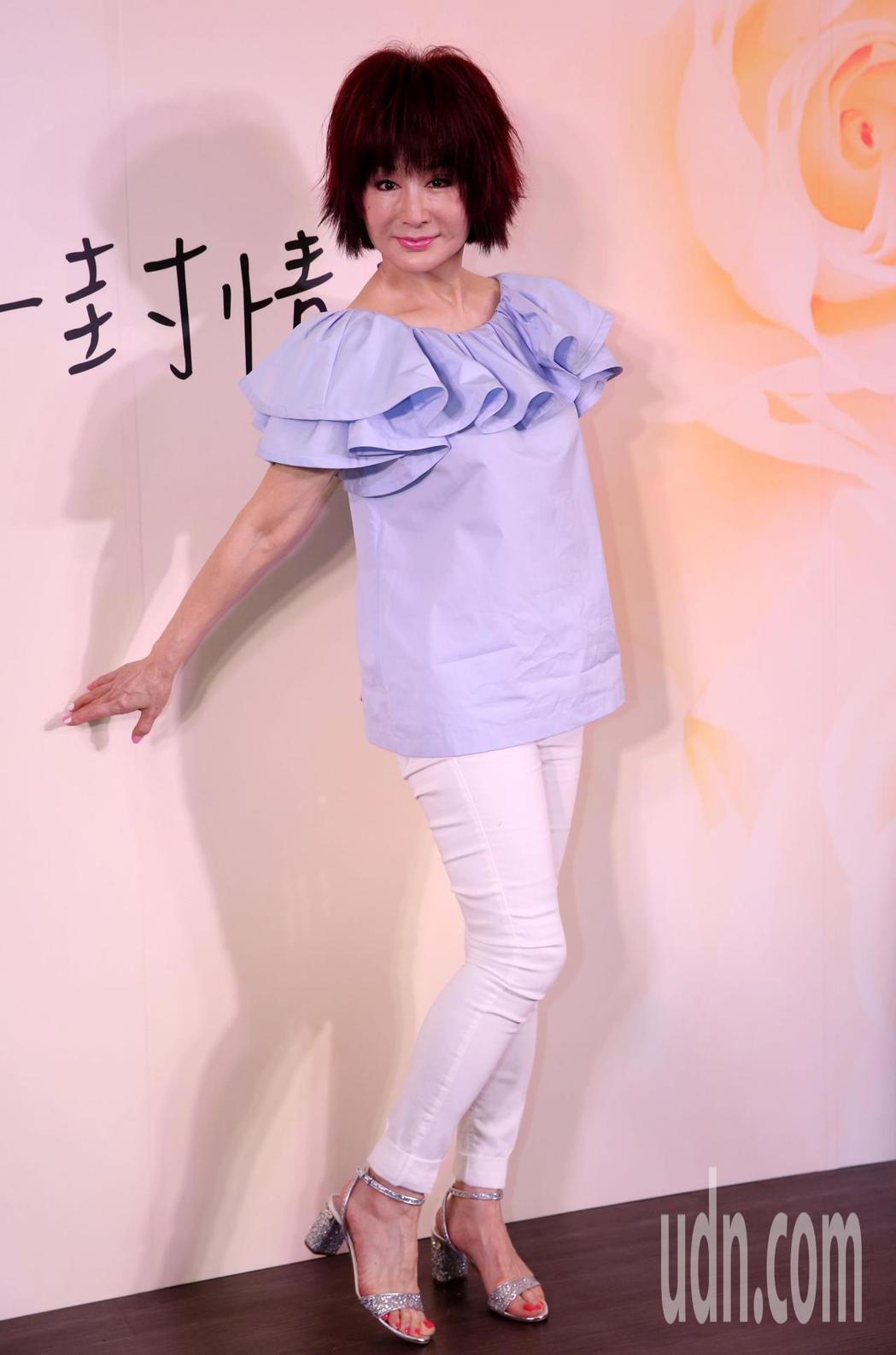 凍齡美女潘迎紫全民大劇團《最後一封情書》擔綱女主角。記者林俊良/攝影