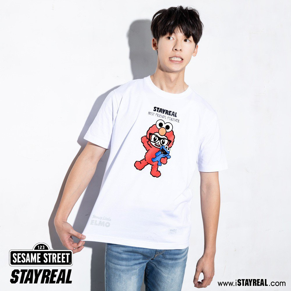 Elmo鼠小小變裝T恤,售價1,280元。圖/STAYREAL提供