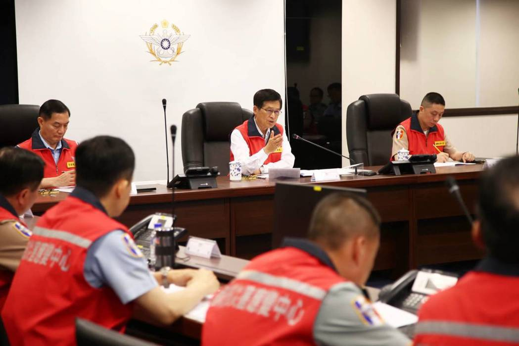 國防部表示,國防部災害應變中心於今天中午與中央災害應變中心同步完成一級開設。圖/...