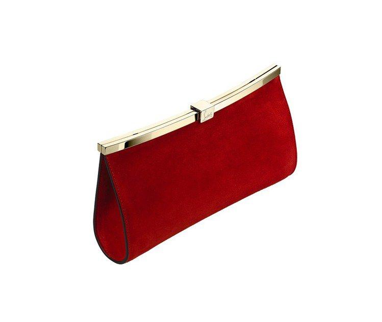 Palmette緞面紅色手拿包,售價49,500元。圖/Christian Lo...