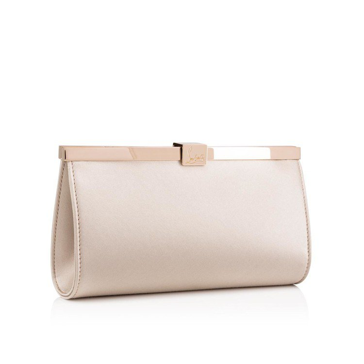 Palmette緞面珍珠粉色手拿包,售價41,000元。圖/Christian ...