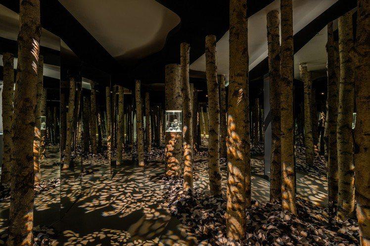 為了表現出Flight主題,Tiffnay營造出秋天白樺木林的空間,凸顯質地與形...