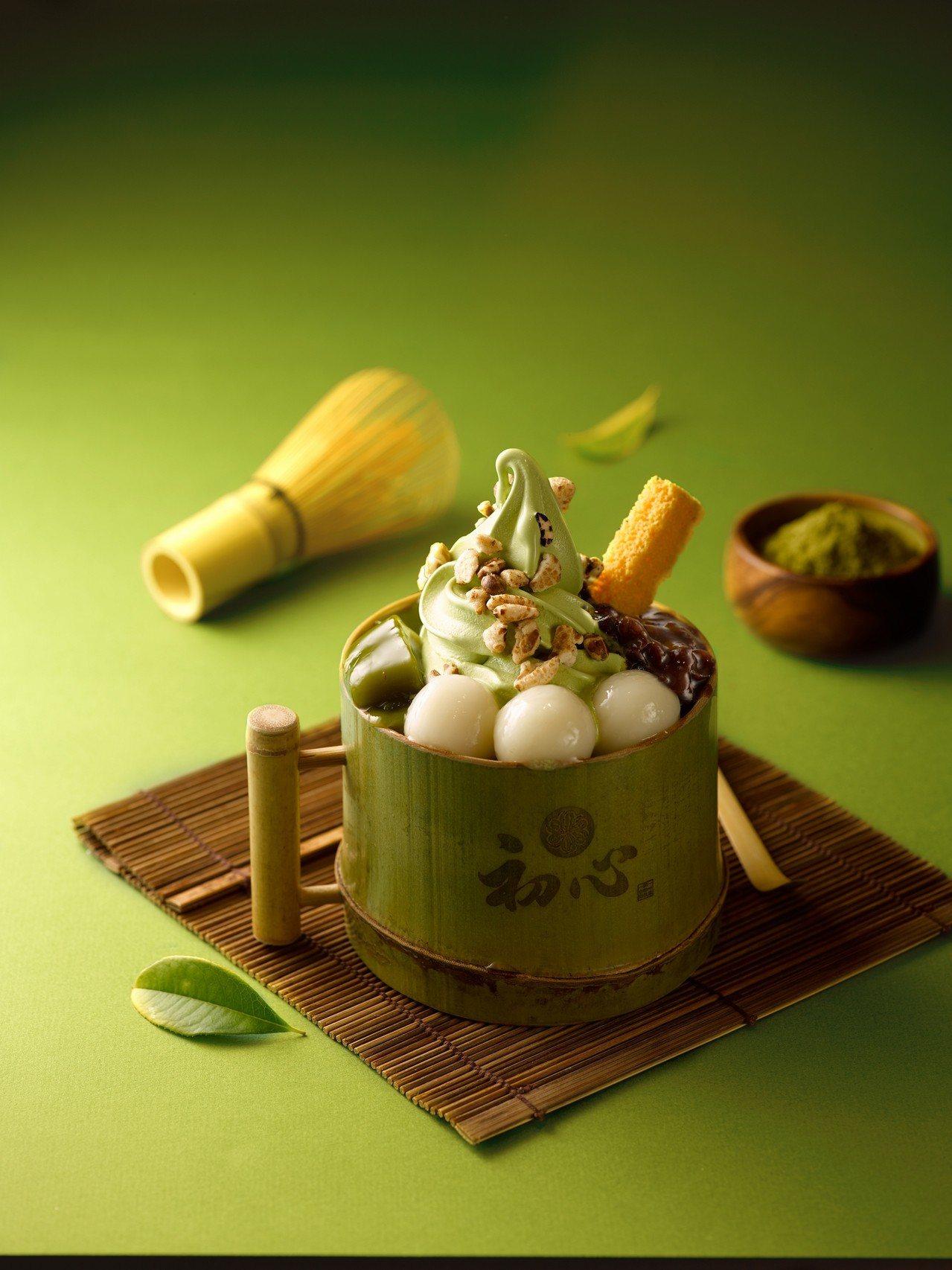 初心菓寮青紅皂白抹茶雙淇淋,280元。圖/微風提供