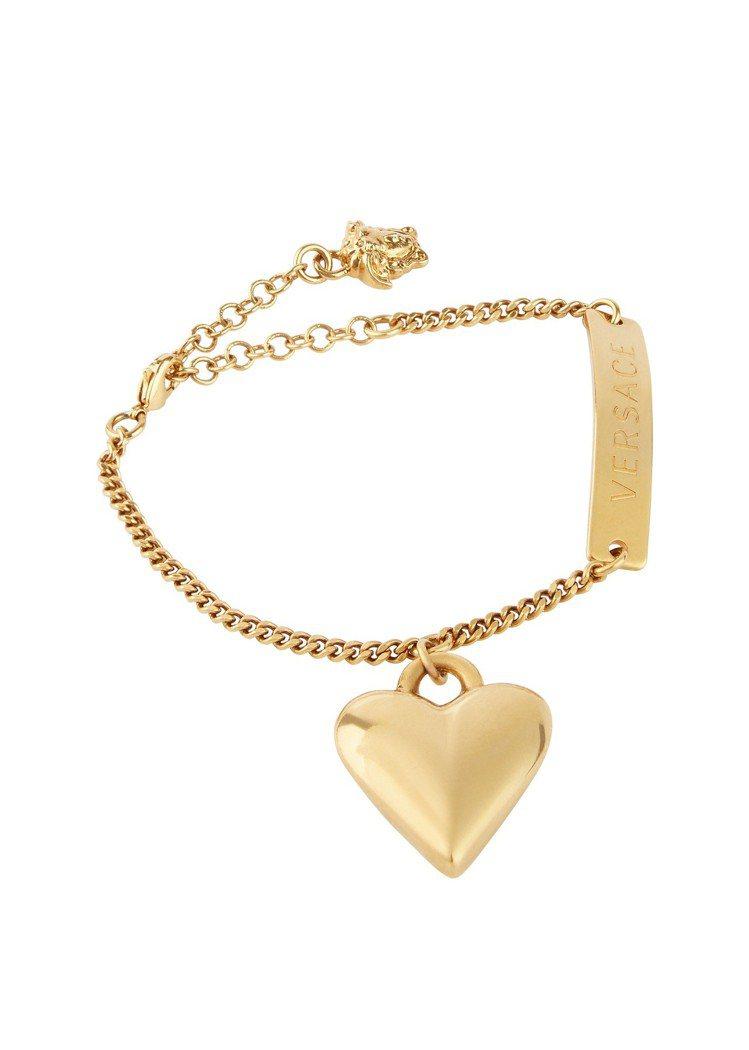 金屬愛心造型手鍊,13,000元。圖/Versace提供