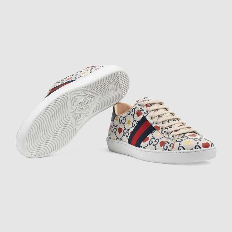 Ace七夕情人節限定款運動鞋,33,400元。圖/Gucci提供