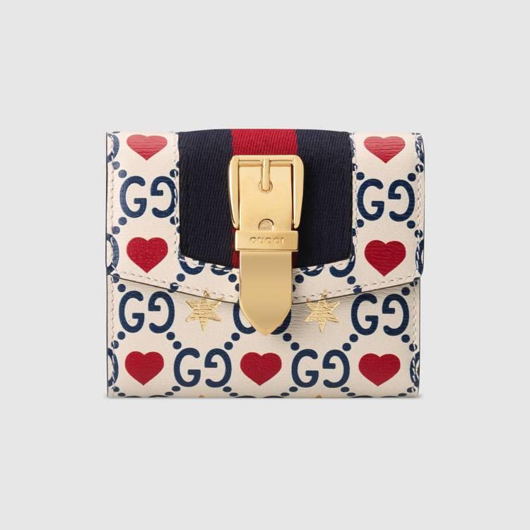 Sylvie系列七夕情人節限定款短夾,24,400元。圖/Gucci提供