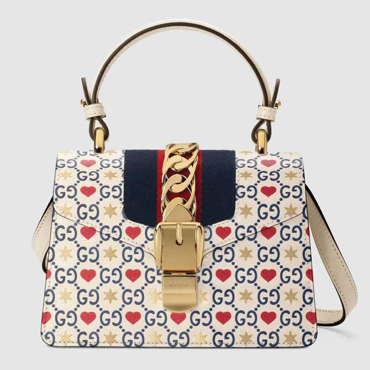 Sylvie系列七夕情人節限定款迷你手提包,93,400元。圖/Gucci提供