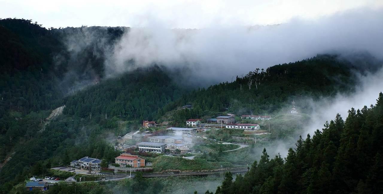 太平山國家森林遊樂園在7月17日下午便已預警性休園。圖/羅東林區管理處提供