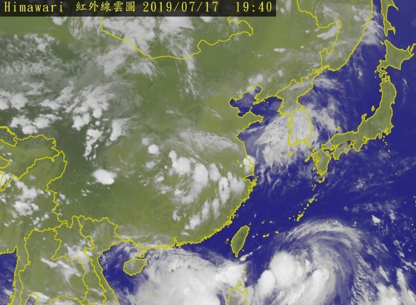 丹娜絲颱風不影響澎湖,澎湖縣政府決定明天上班上課。圖/擷自中央氣象局