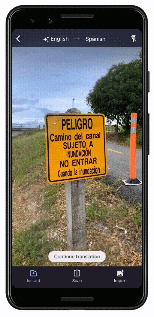 即時鏡頭翻譯功能全新升級,只要將手機鏡頭對準欲翻譯的文字,畫面上就會直接置換成使...