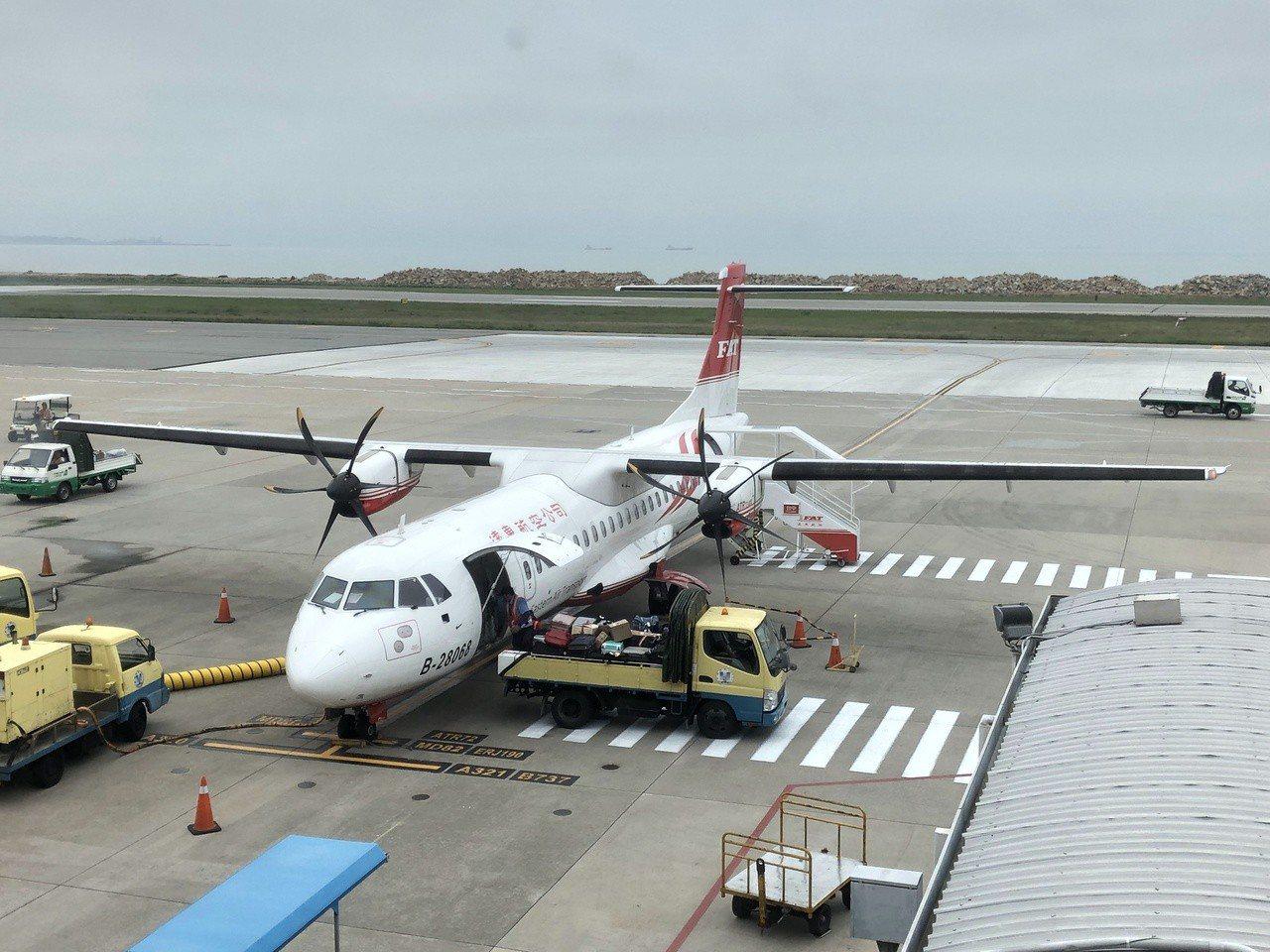 明日下午的台金航班受颱風影響,有所異動,提醒民眾多加留意。記者蔡家蓁/攝影