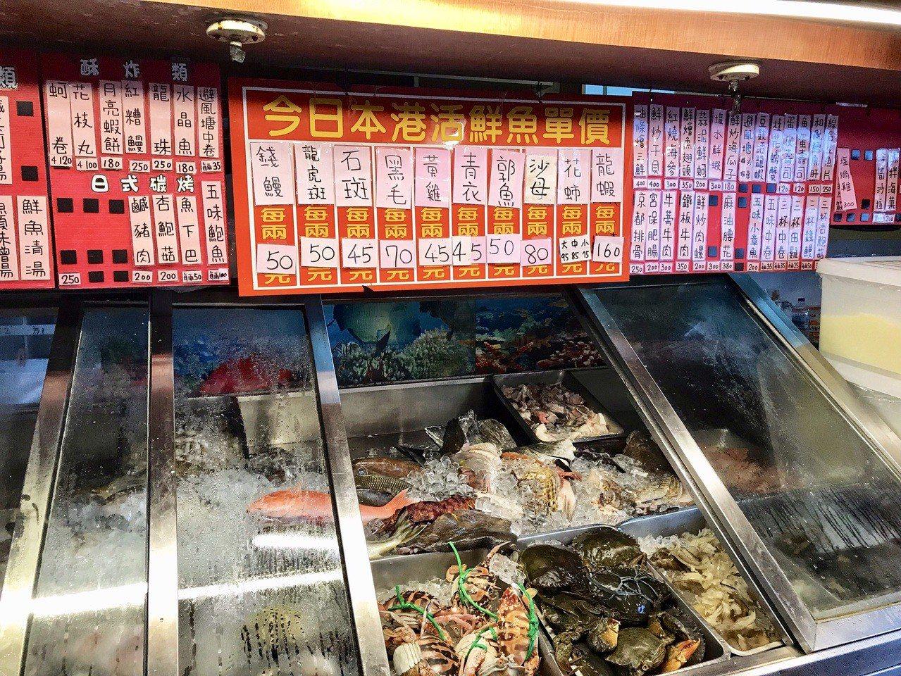 萬里龜吼漁港東坡3號船長林國松說,目前市價龍蝦1兩160元,蝦蛄拍仔不常有,1兩...