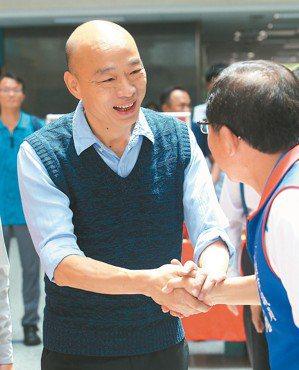 面對上任後第一個颱風… 面對上任後第一個颱風來襲,高雄市長韓國瑜表示,他的心情是...