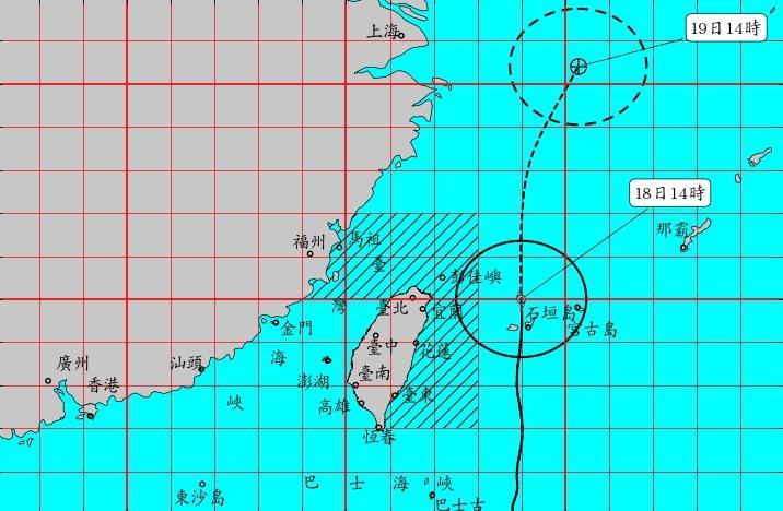 中央氣象局宣布,由於丹娜絲颱風加速向北遠離,對台灣近海威脅已解除,預計傍晚5時3...