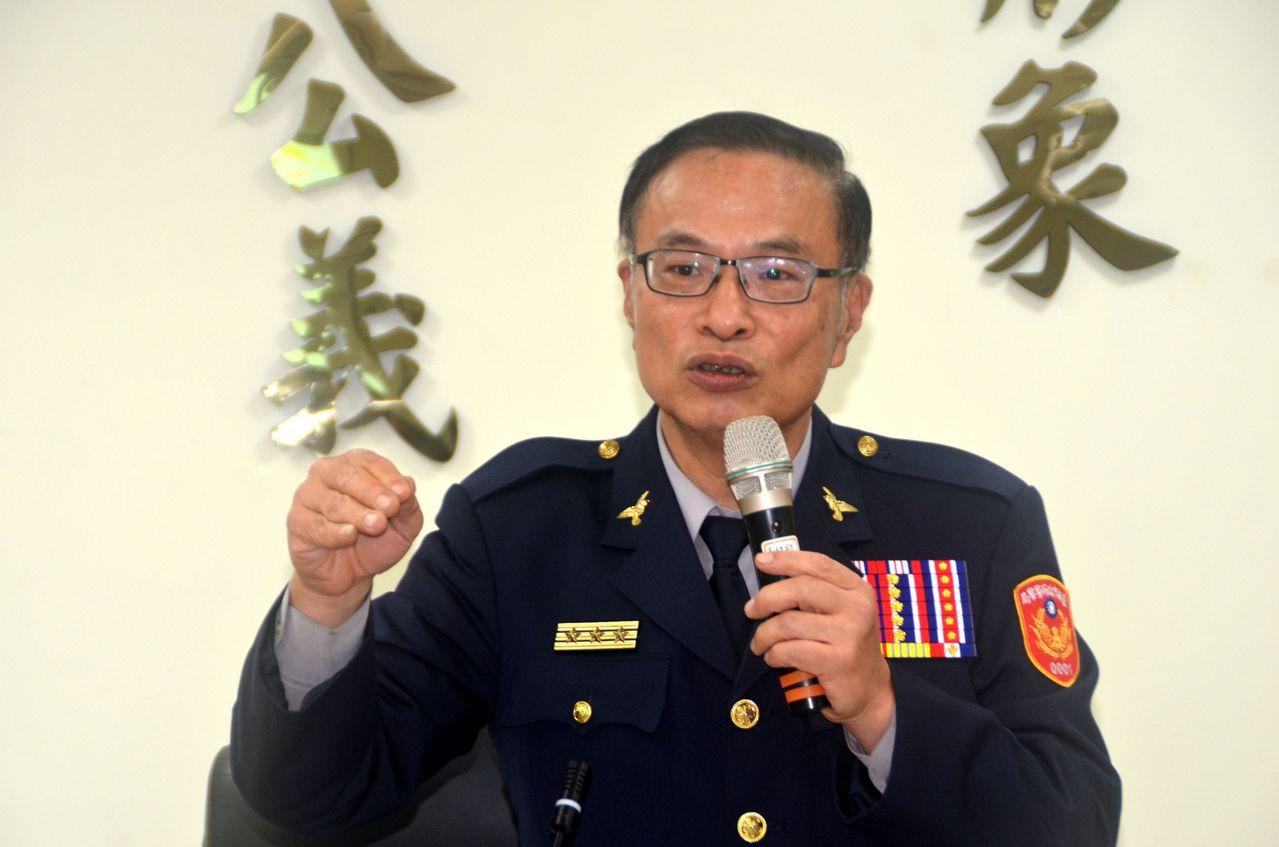 台南市警局長黃宗仁任內表現優異,卻被回鍋署副署長,創警界惡例。記者陳金松/攝影