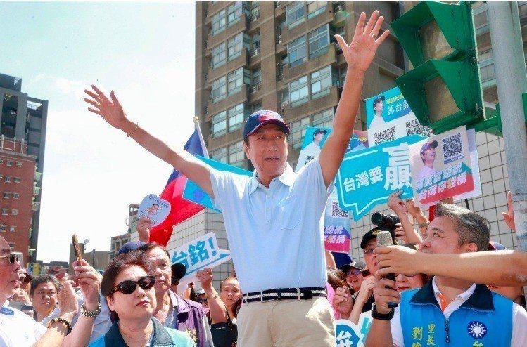 郭台銘幕僚質疑,韓國瑜初選過程被特定媒體與支持者綁架,到現在還在刻意打擊郭台銘。 圖/聯合報系資料照片