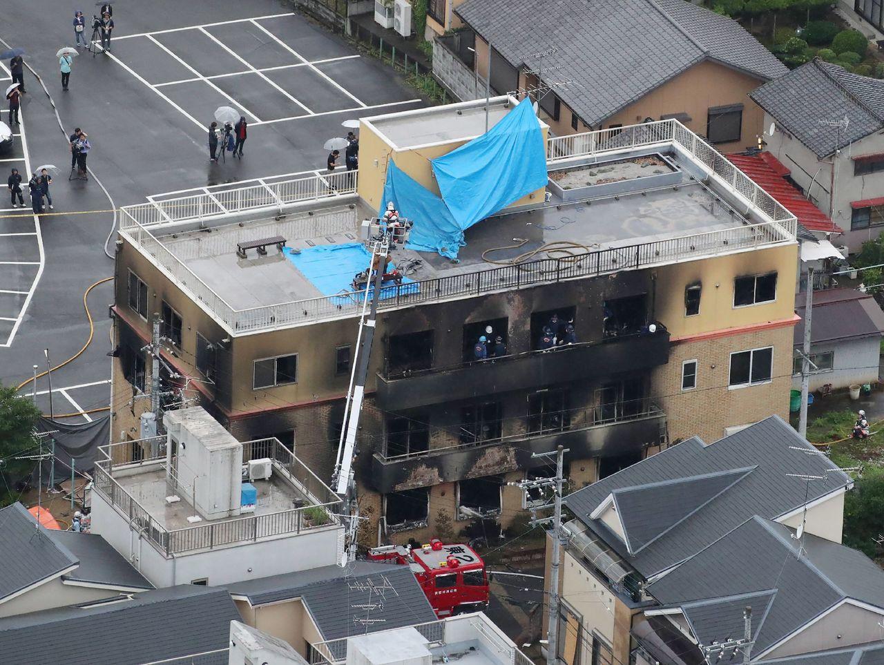 日本知名動畫製作公司「京都動畫」遭人縱火,「京都動畫」的社長表示,過去曾收過殺人...