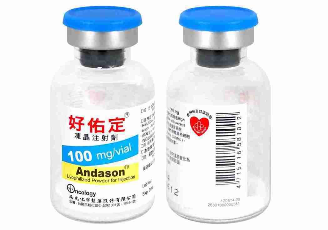 南光化學製藥公司二項利基注射劑藥品,預充填式針筒注射劑-Icatibant和Az...