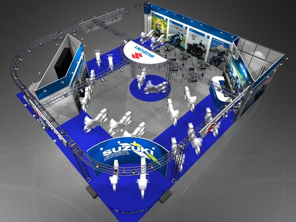 Suzuki台北國際重型機車展會場圖。 圖/台鈴SUZUKI提供