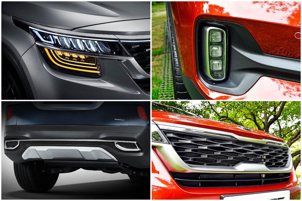 全新Kia Seltos外觀細節,雖然車尾有個雙邊單出鍍鉻方形尾管,但其實真正的...