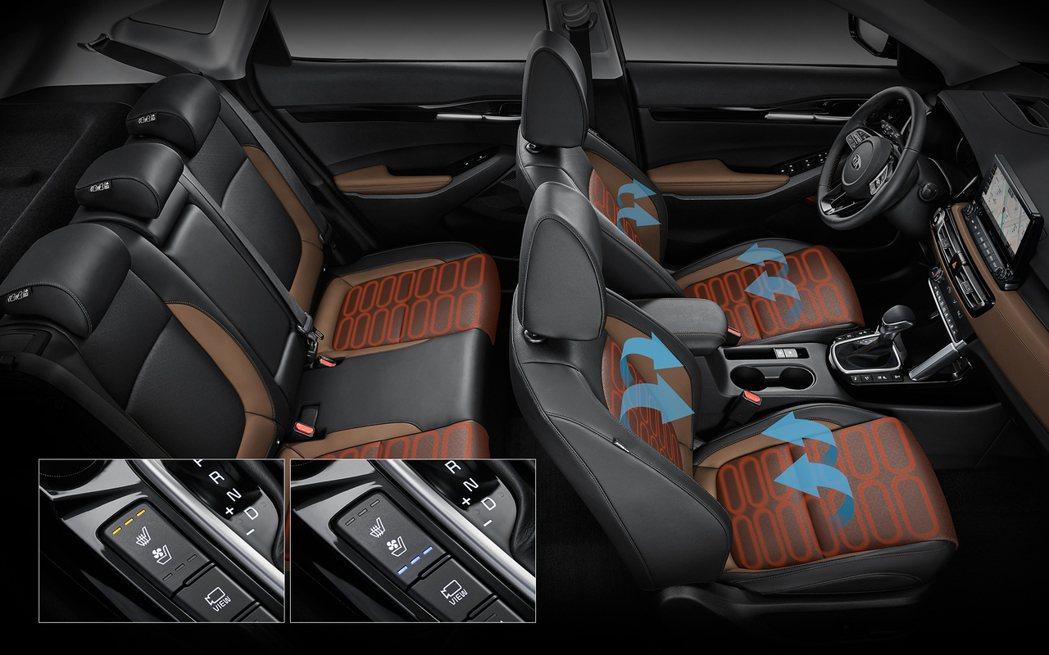 韓版Kia Seltos提供加熱通風前座椅,以及加熱後排座椅。 摘自Kia